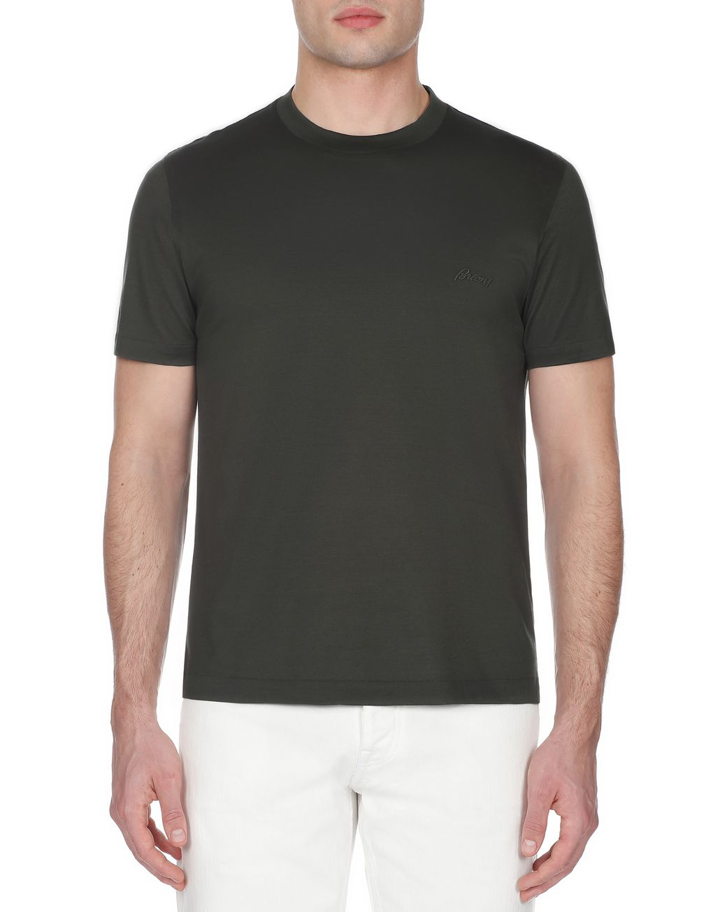 BRIONI Green Crew Neck T-Shirt T-Shirts & Polos [*** pickupInStoreShippingNotGuaranteed_info ***] r