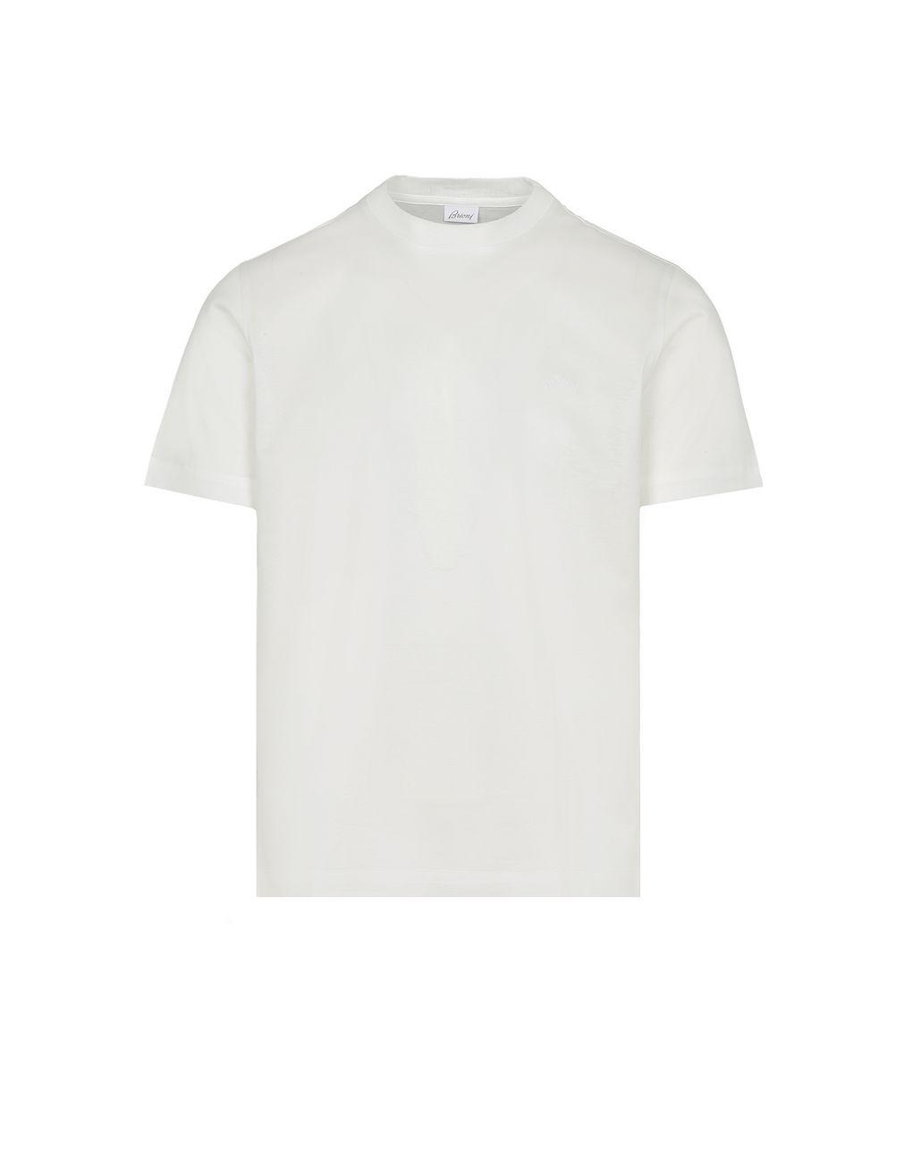 BRIONI White Crew Neck T-Shirt T-Shirts & Polos Man f