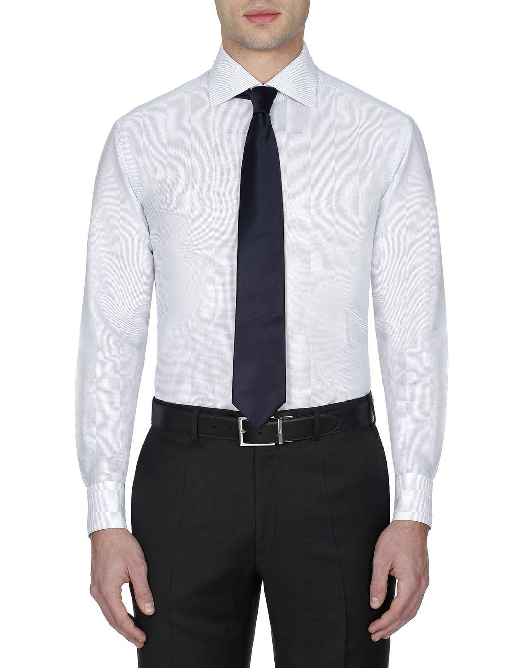 BRIONI Green Micro Designed Shirt Formal shirt Man r