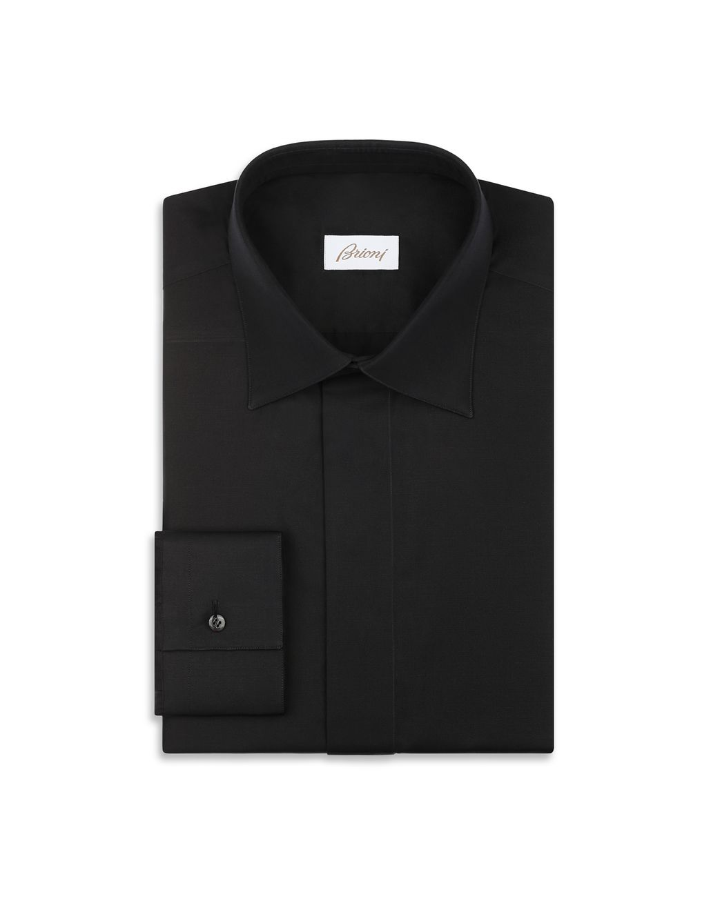 BRIONI Black Evening Shirt Formal shirt [*** pickupInStoreShippingNotGuaranteed_info ***] f
