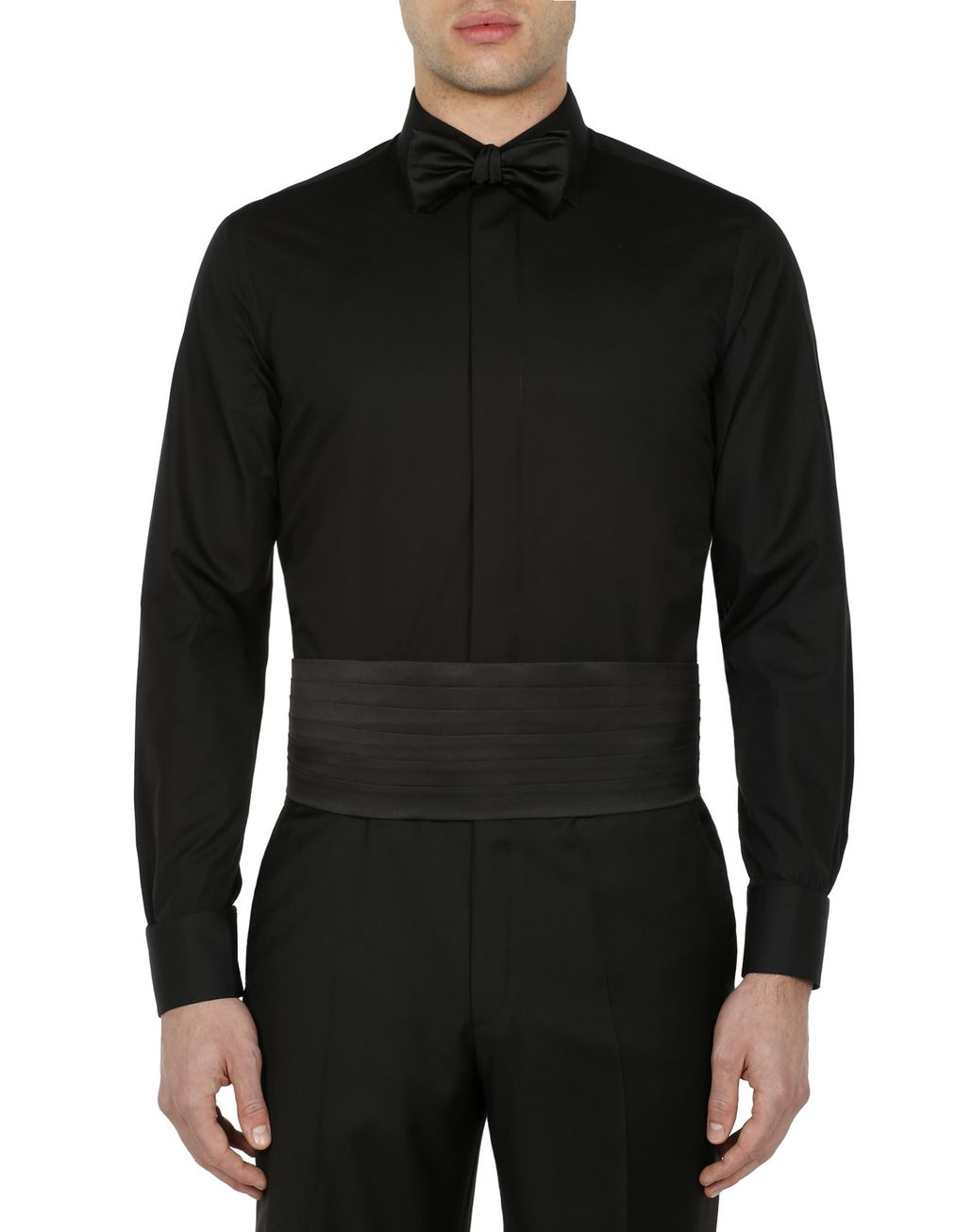 BRIONI Black Evening Shirt Formal shirt [*** pickupInStoreShippingNotGuaranteed_info ***] r