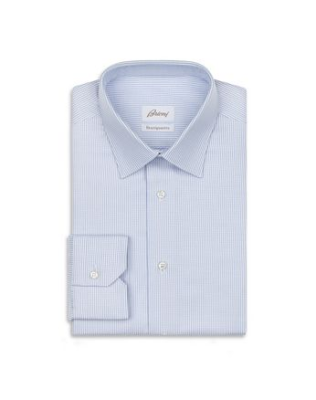 Light Blue and White Micro Designed Shirt