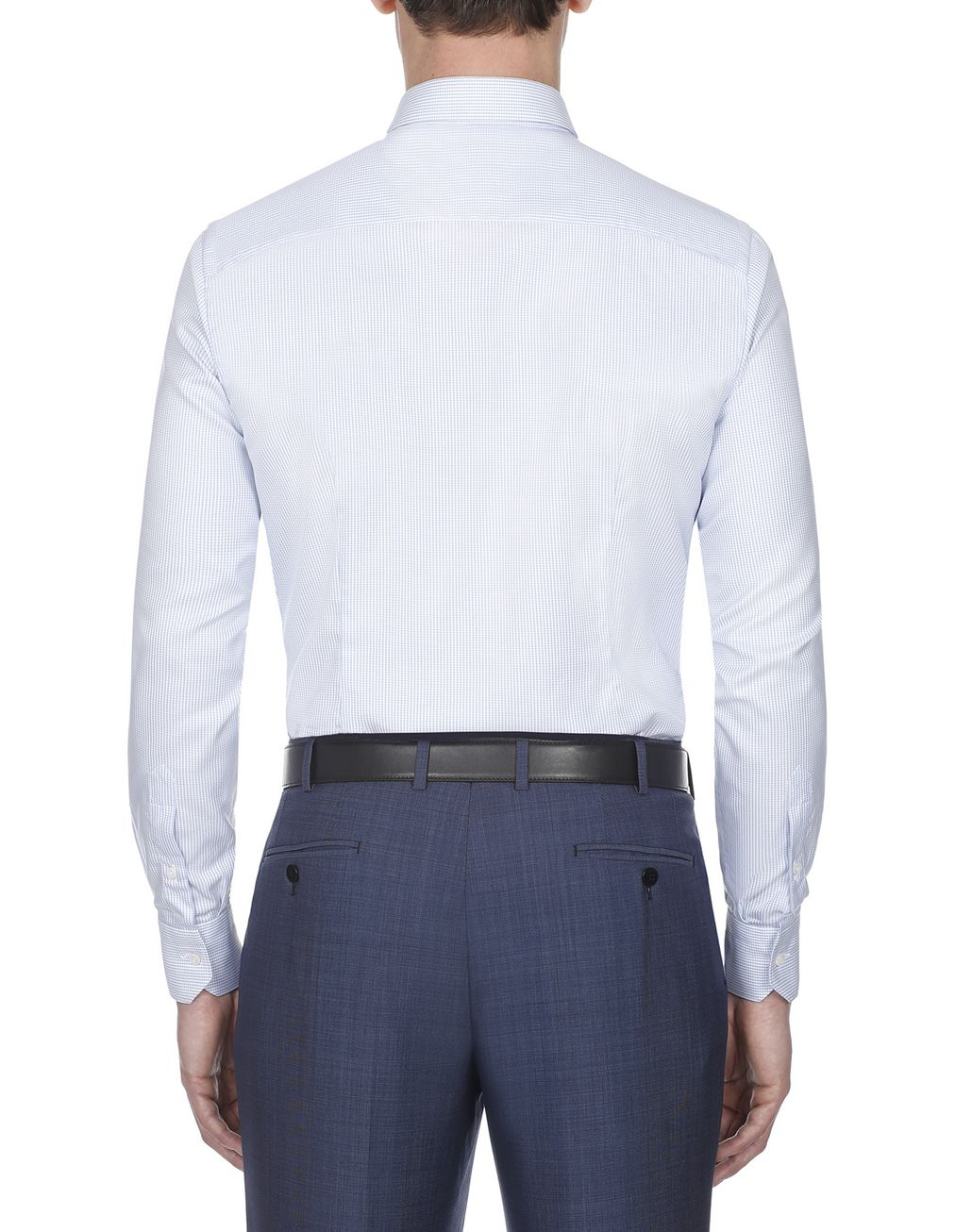 BRIONI Light Blue and White Micro Designed Shirt Formal shirt Man d
