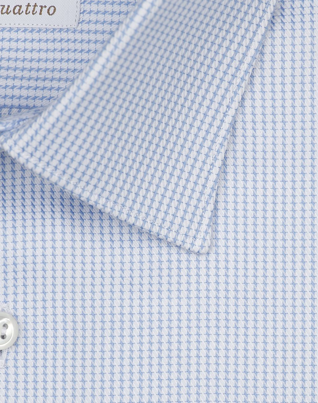 BRIONI Light Blue and White Micro Designed Shirt Formal shirt [*** pickupInStoreShippingNotGuaranteed_info ***] e