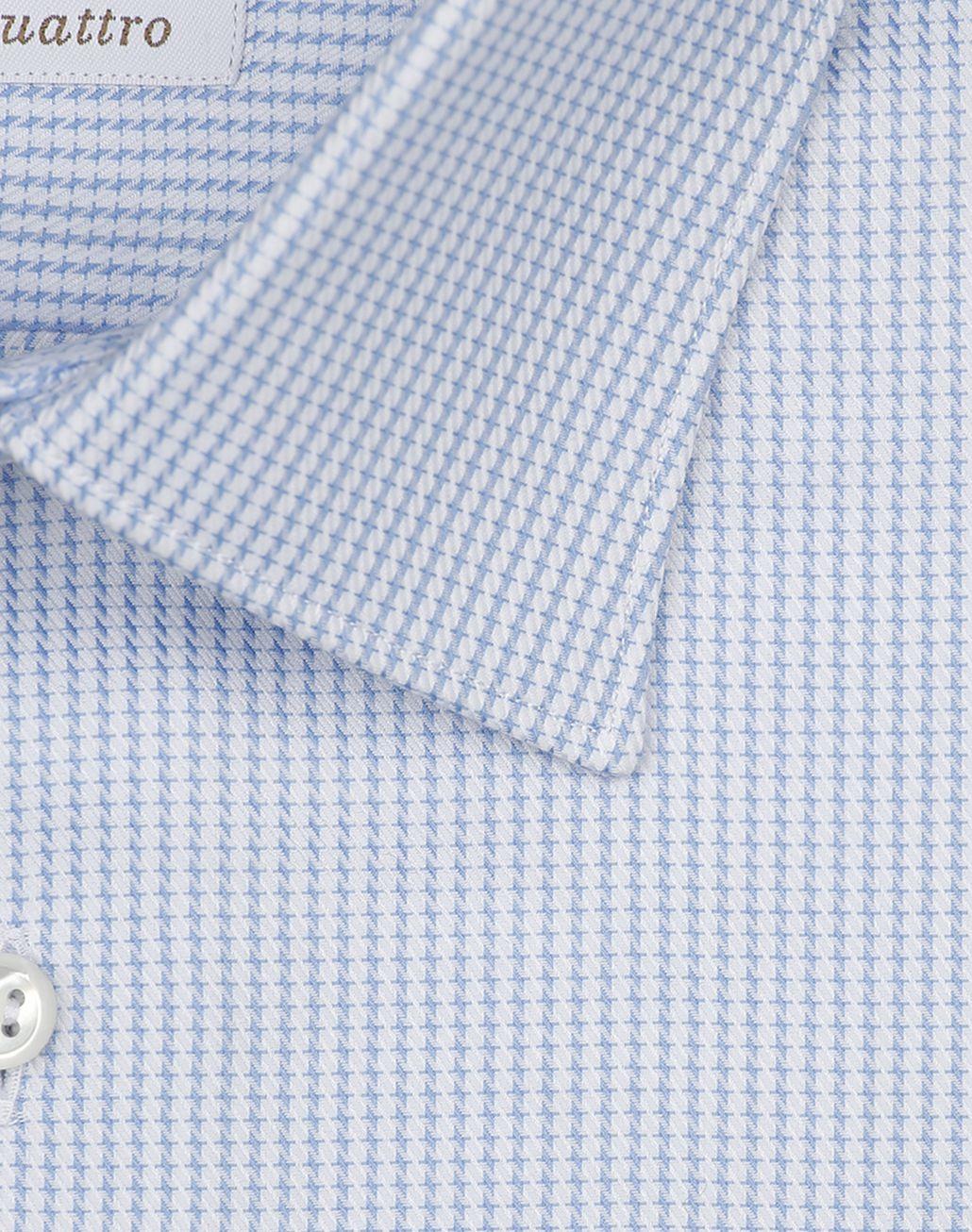 BRIONI Chemise avec motif miniature blanc et bleu clair Chemise habillée [*** pickupInStoreShippingNotGuaranteed_info ***] e