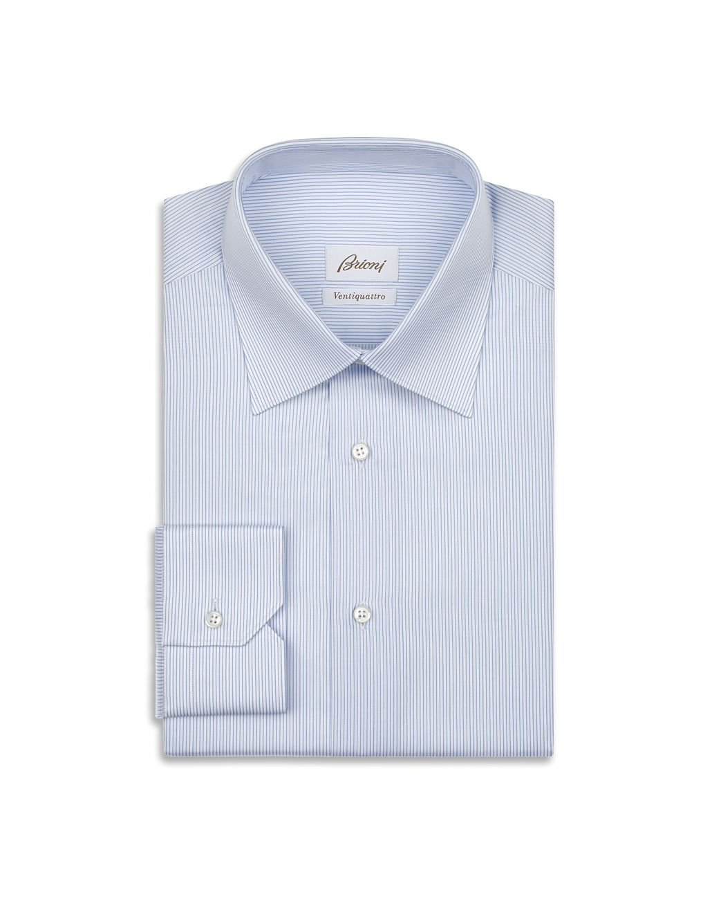 BRIONI Light Blue and White Striped Shirt Formal shirt Man f