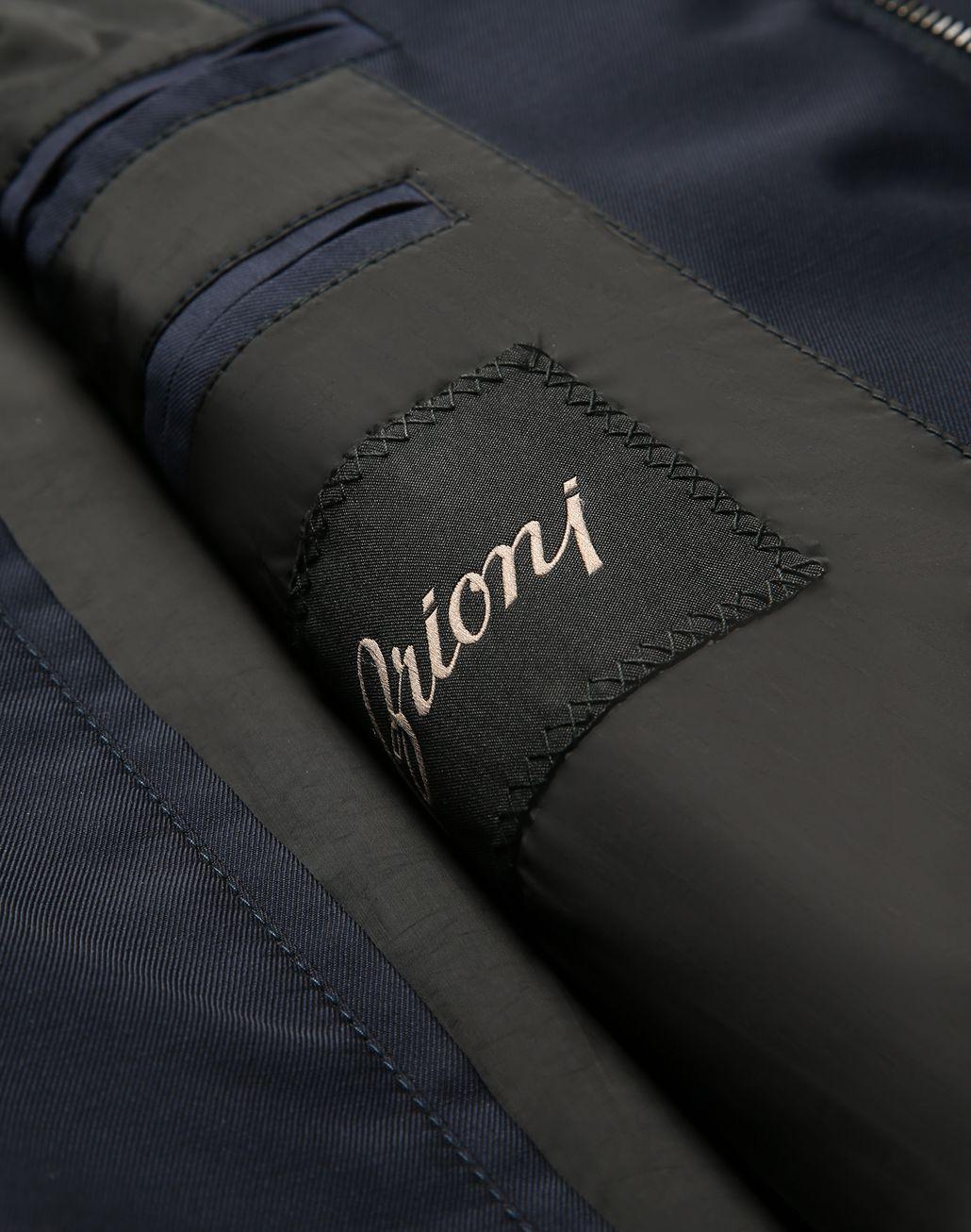 BRIONI Тёмно-синий блузон Верхняя одежда [*** pickupInStoreShippingNotGuaranteed_info ***] b