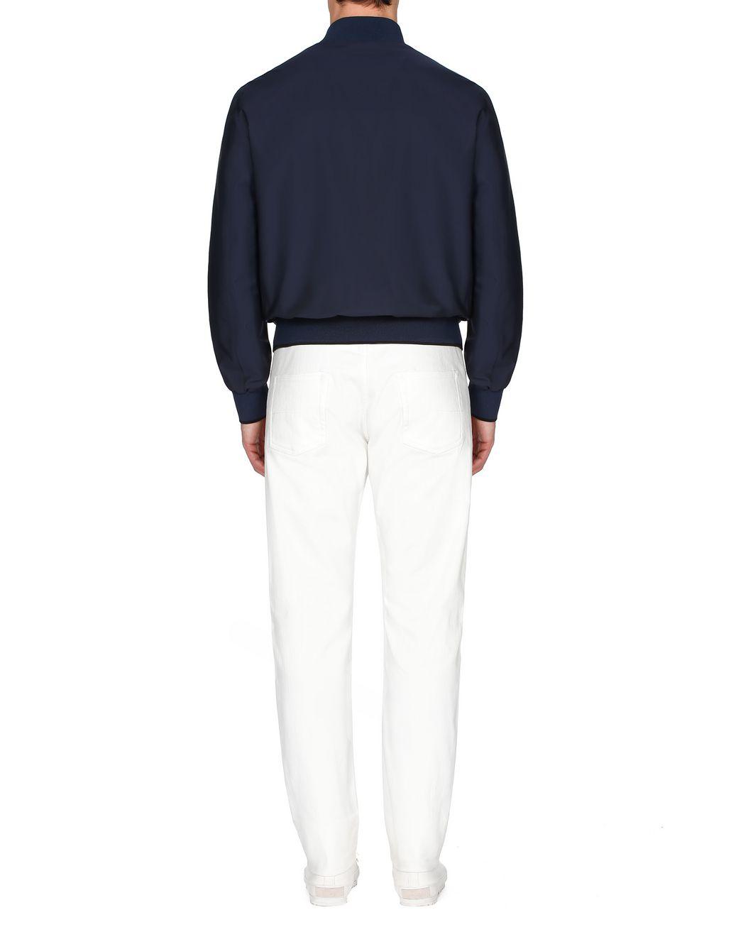 BRIONI Тёмно-синий блузон Верхняя одежда [*** pickupInStoreShippingNotGuaranteed_info ***] d