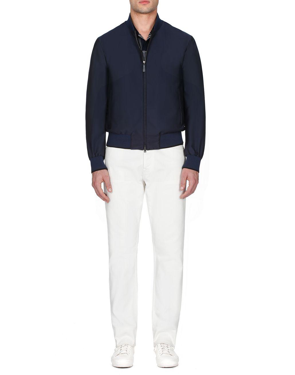 BRIONI Тёмно-синий блузон Верхняя одежда [*** pickupInStoreShippingNotGuaranteed_info ***] r