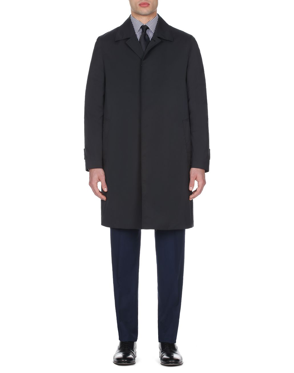 BRIONI Black Foldable Car Coat Outerwear [*** pickupInStoreShippingNotGuaranteed_info ***] r