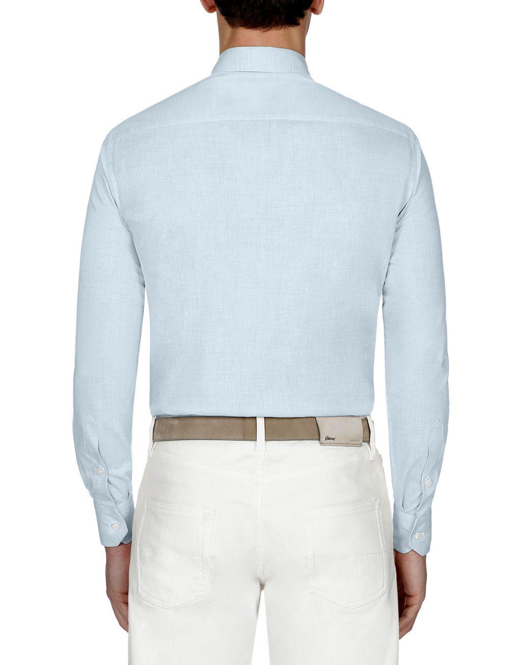 BRIONI Light Blue Cotton Shirt Leisure shirt Man d