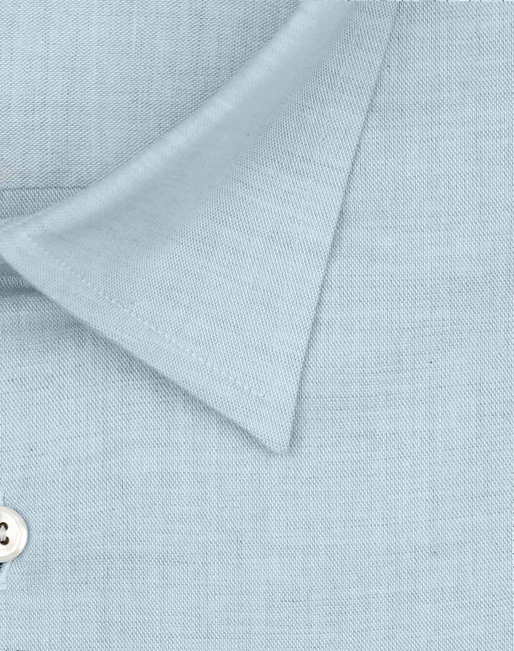 BRIONI Light Blue Cotton Shirt Leisure shirt Man e