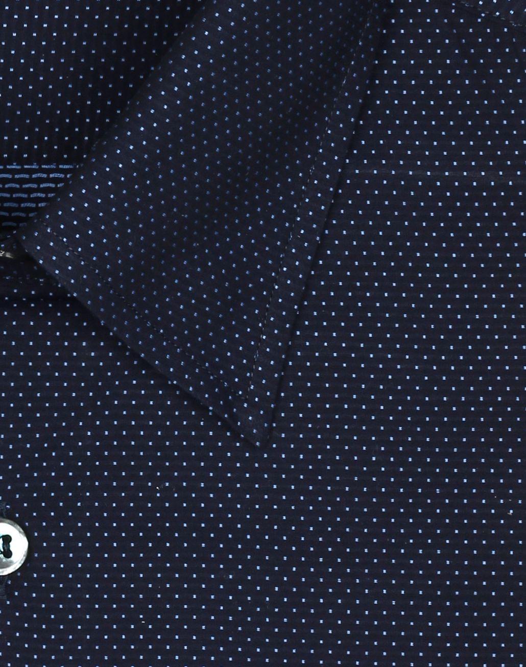 BRIONI Тёмно-синяя рубашка в мелкий горошек Повседневная рубашка [*** pickupInStoreShippingNotGuaranteed_info ***] e