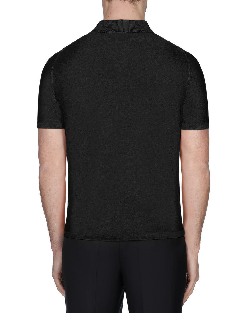 BRIONI Black Silk Polo Shirt T-Shirts & Polos [*** pickupInStoreShippingNotGuaranteed_info ***] d