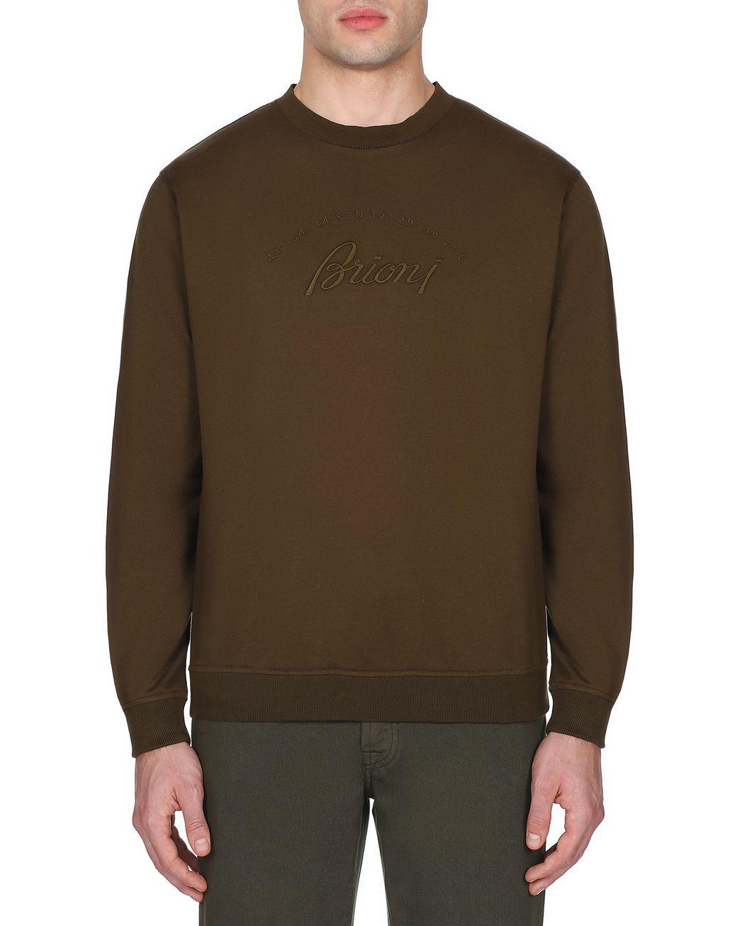 BRIONI Green Brioni Sweatshirt Knitwear Man r