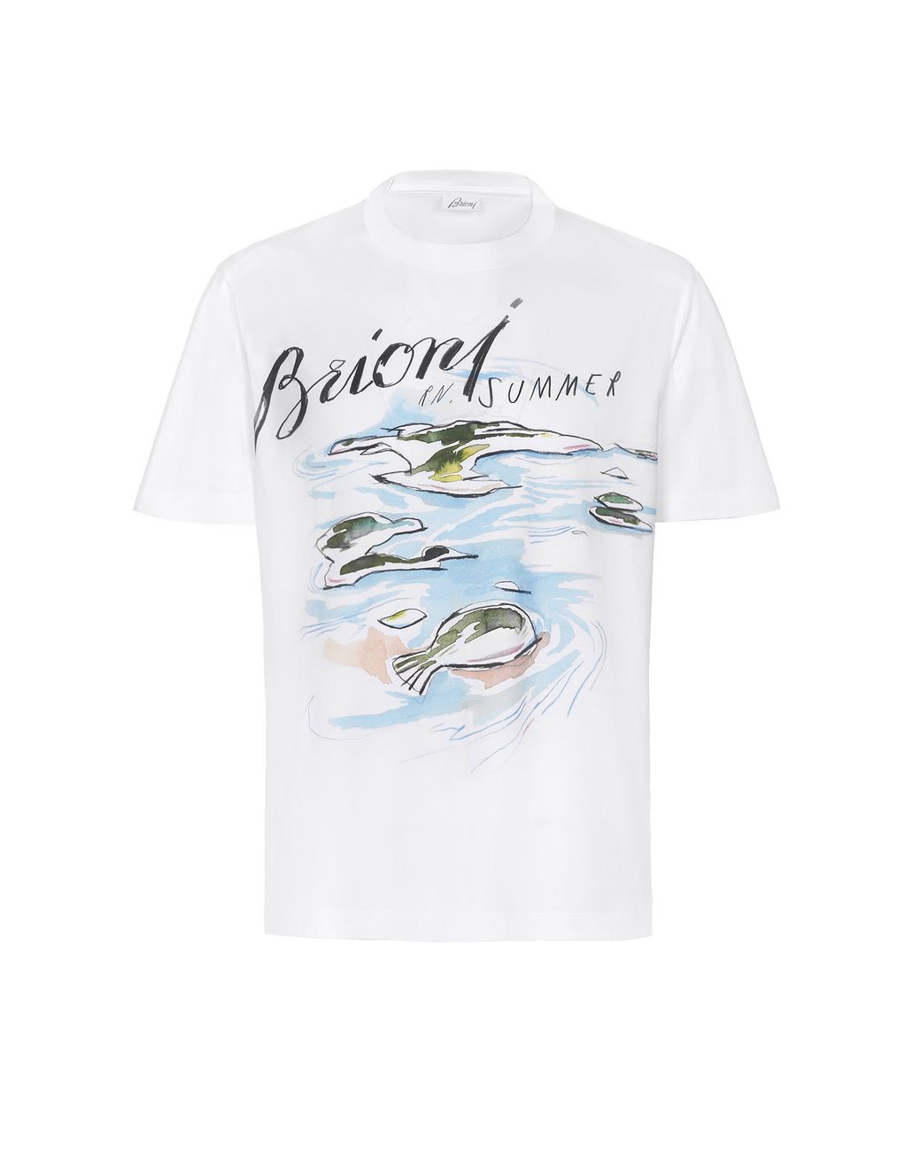 BRIONI White Brioni Design T-Shirt T-Shirts & Polos Man f