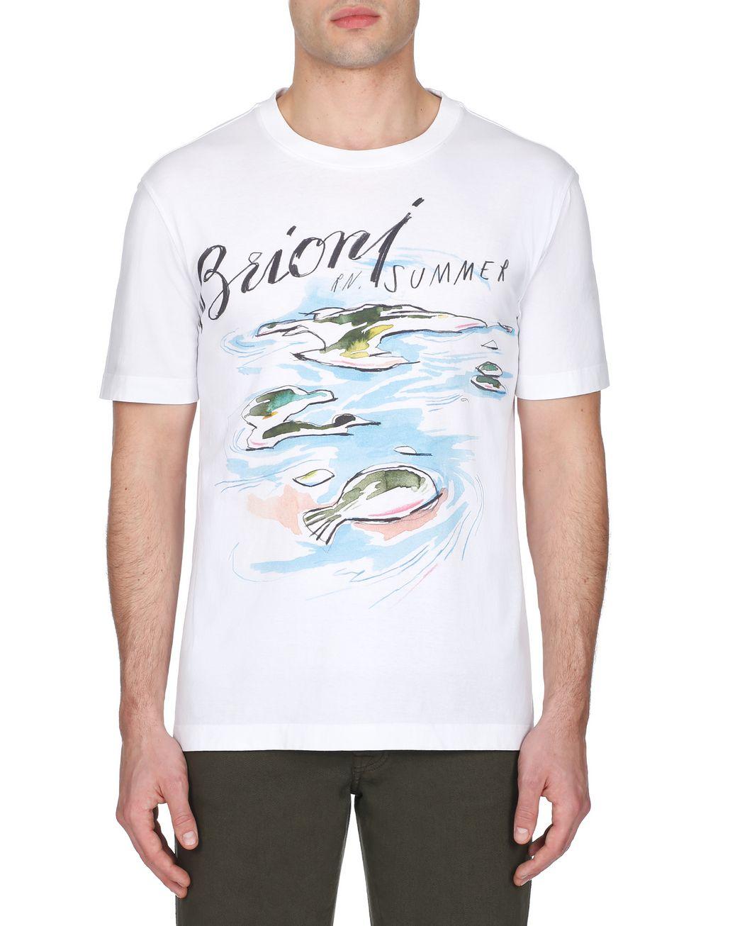 BRIONI White Brioni Design T-Shirt T-Shirts & Polos [*** pickupInStoreShippingNotGuaranteed_info ***] r