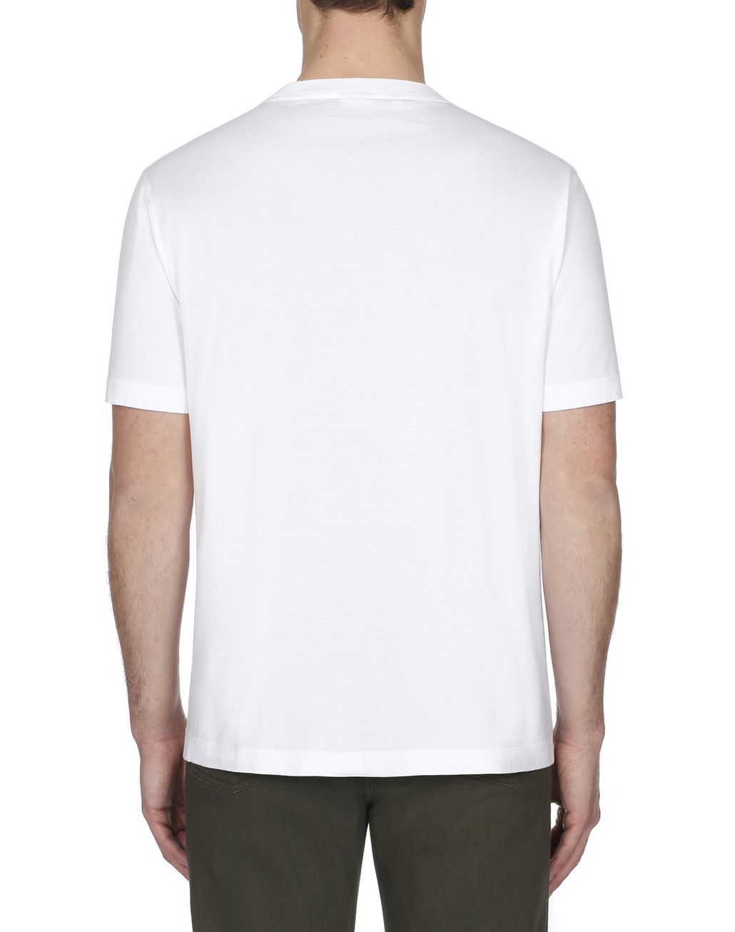 BRIONI White Printed T-Shirt T-Shirts & Polos [*** pickupInStoreShippingNotGuaranteed_info ***] d