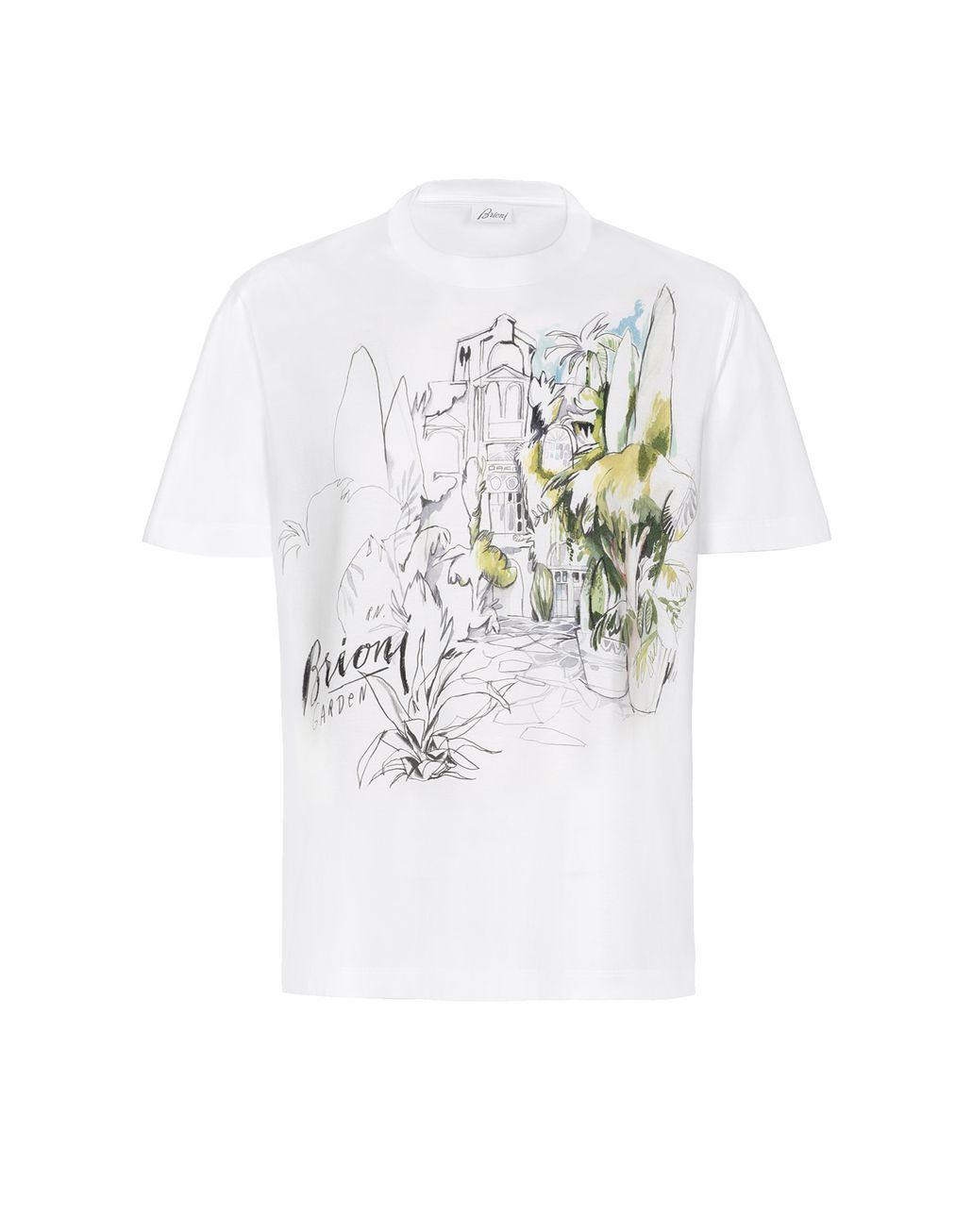 BRIONI Белая футболка с принтом Футболки и поло Для Мужчин f