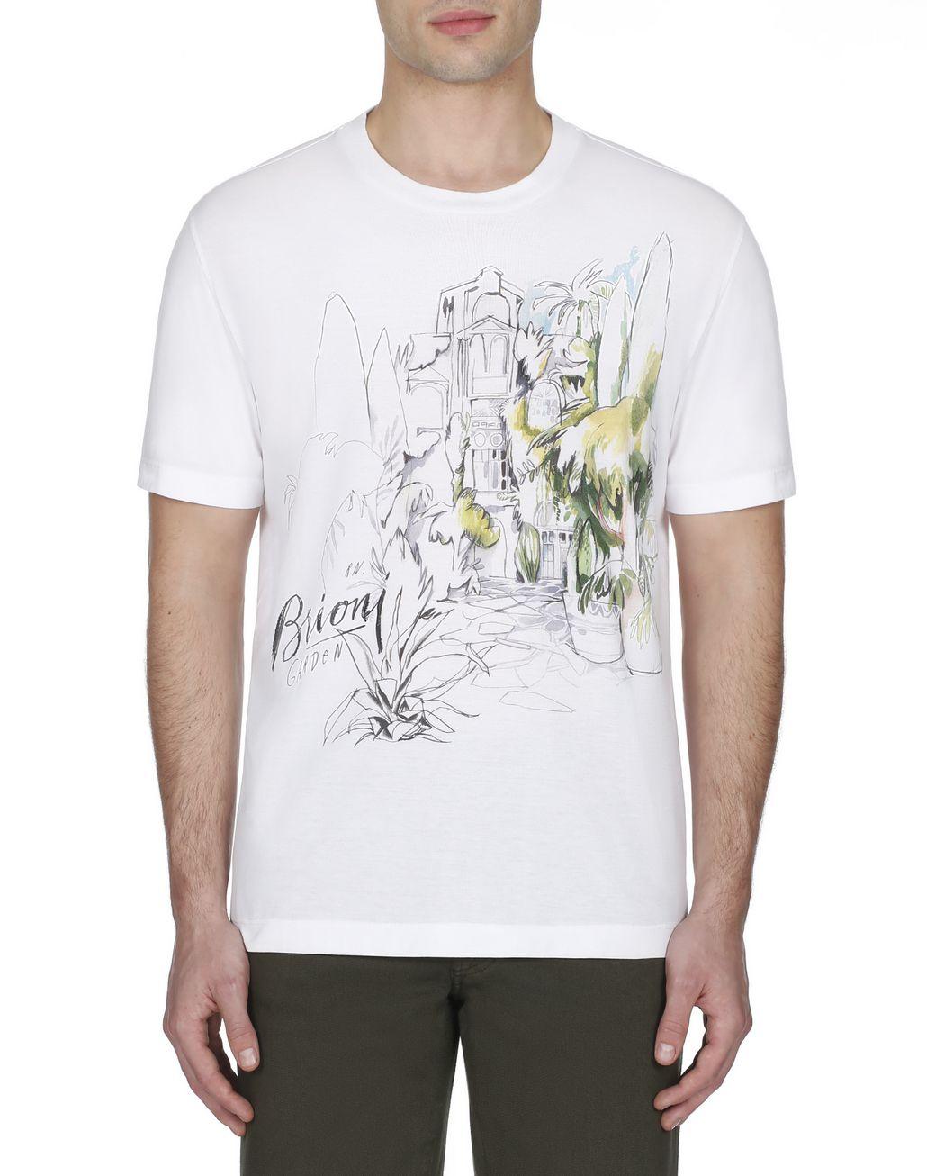 BRIONI White Printed T-Shirt T-Shirts & Polos [*** pickupInStoreShippingNotGuaranteed_info ***] r