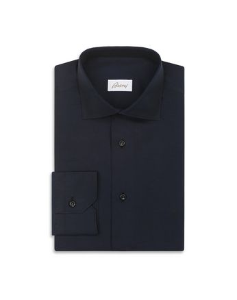 Navy Blue Textured Formal Shirt