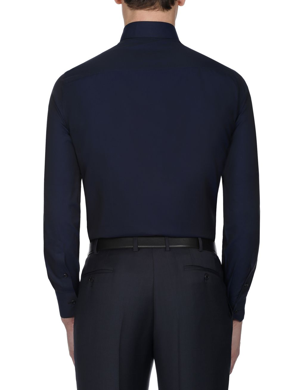 BRIONI Navy Blue Textured Formal Shirt   Formal shirt [*** pickupInStoreShippingNotGuaranteed_info ***] d