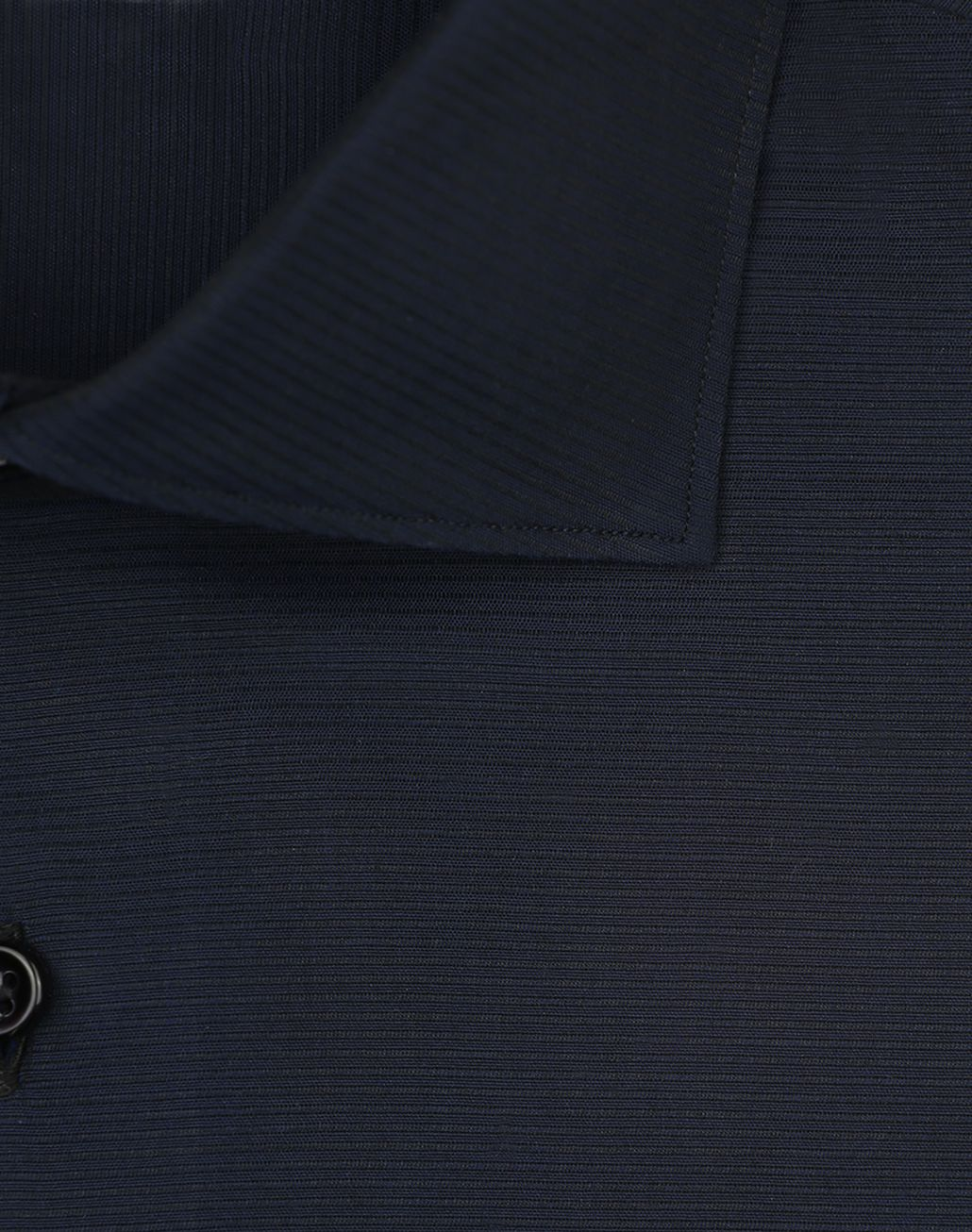 BRIONI Navy Blue Textured Formal Shirt   Formal shirt [*** pickupInStoreShippingNotGuaranteed_info ***] e