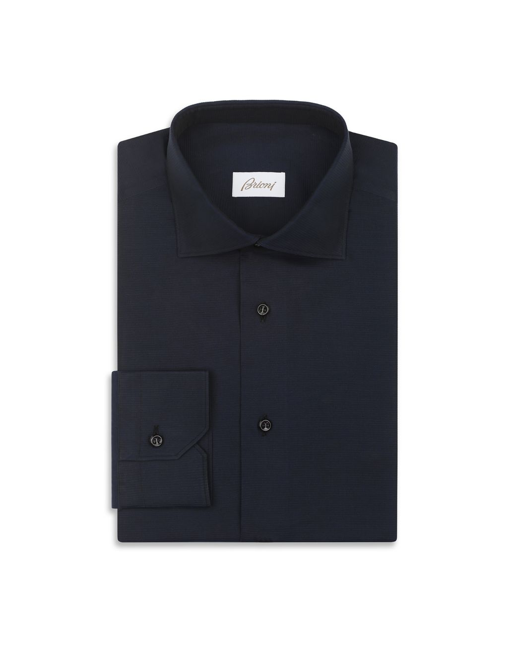 BRIONI Navy Blue Textured Formal Shirt   Formal shirt Man f