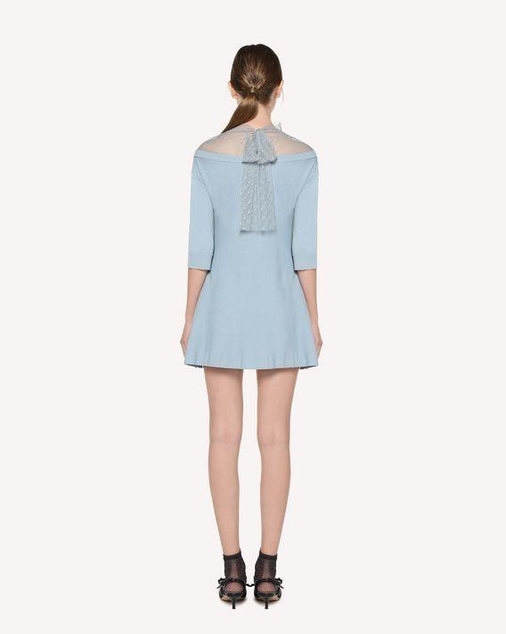 REDValentino 细点网眼薄纱与弹力粘胶连衣裙
