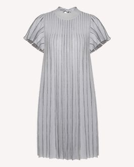 REDValentino A-jour stitched cotton lurex knit dress