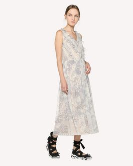 REDValentino Chiffon dress with Cascading stars print