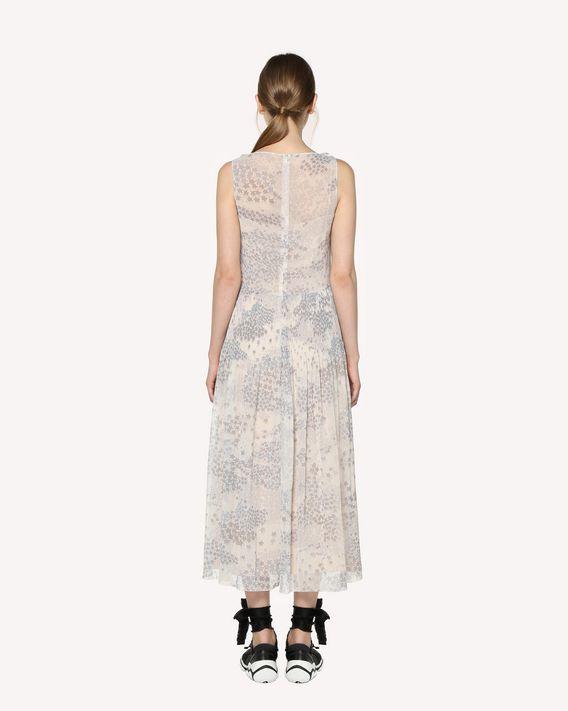 REDValentino Chiffon dress with Cascading stars print