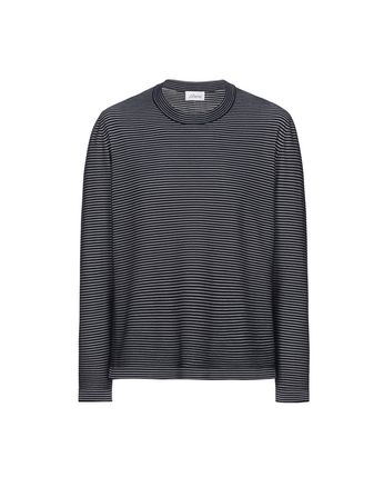 Navy Blue and White Striped Knitwear