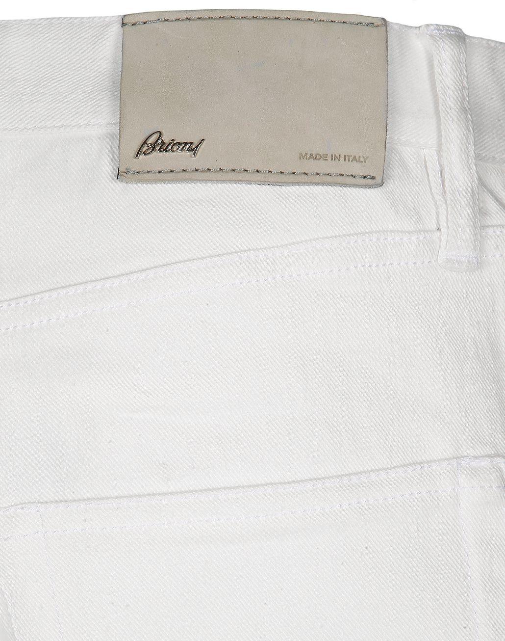 BRIONI White Denim   Trousers Man a