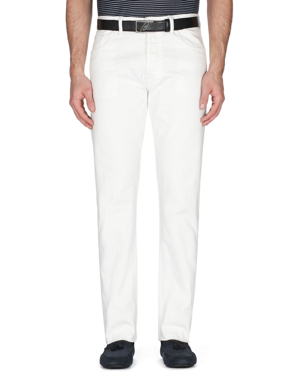 BRIONI White Denim   Trousers [*** pickupInStoreShippingNotGuaranteed_info ***] r