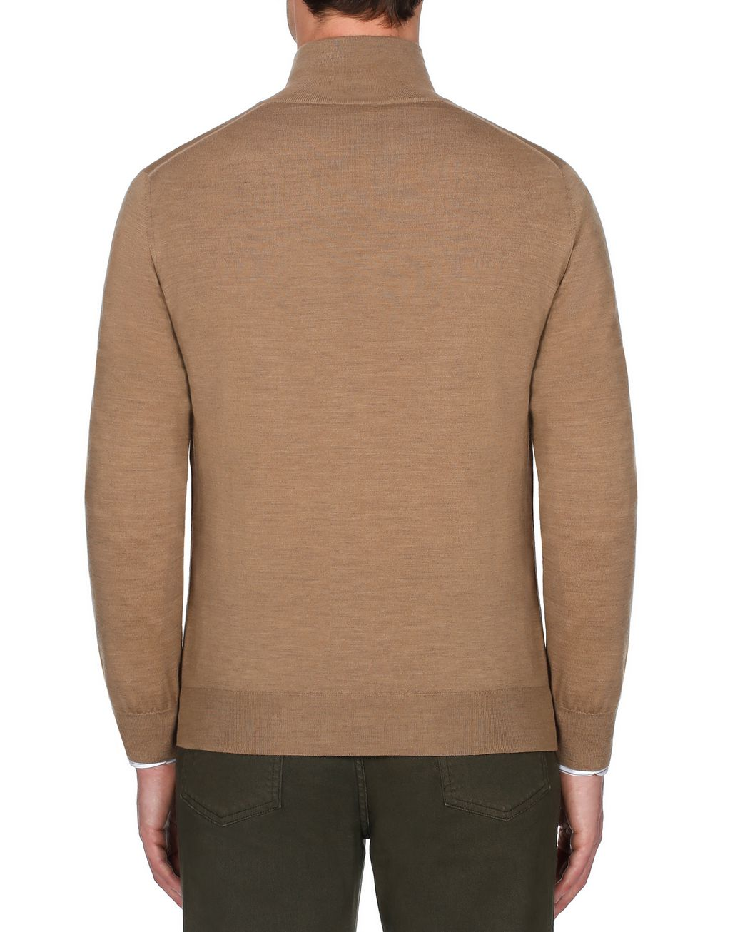 BRIONI Beige Zipped Jumper Knitwear [*** pickupInStoreShippingNotGuaranteed_info ***] d