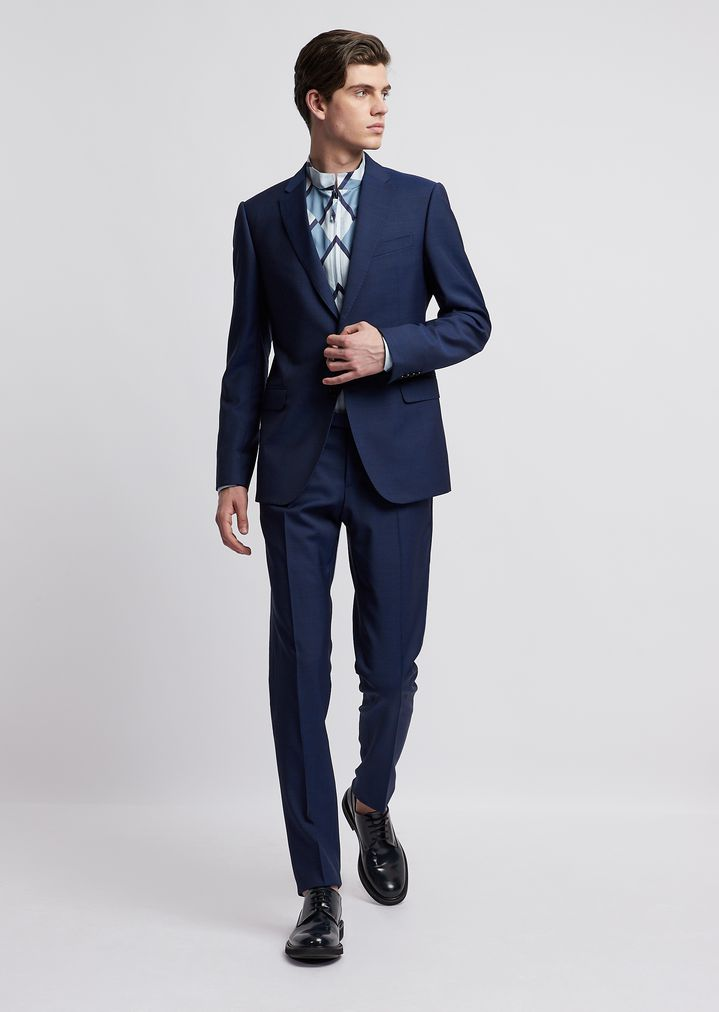 66d8546bcf Modern-fit suit in cool wool with single-breasted blazer