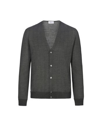 Grey Window Check Cardigan