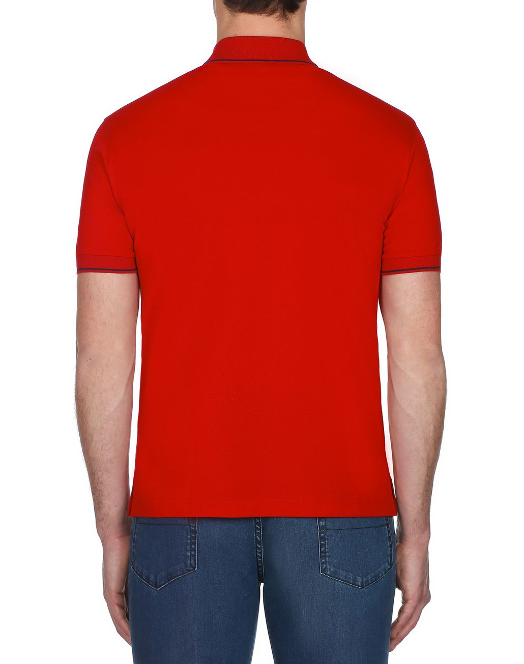BRIONI Red Piquet Polo Shirt T-Shirts & Polos [*** pickupInStoreShippingNotGuaranteed_info ***] d