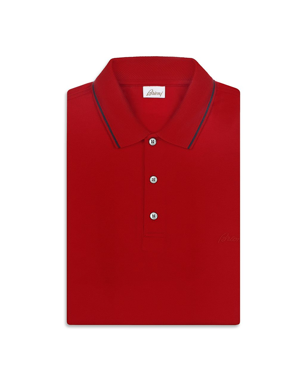 BRIONI Red Piquet Polo Shirt T-Shirts & Polos [*** pickupInStoreShippingNotGuaranteed_info ***] e