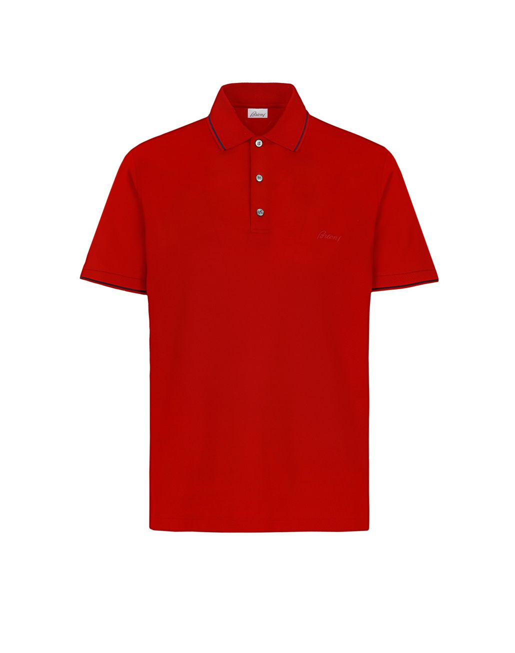BRIONI Red Piquet Polo Shirt T-Shirts & Polos [*** pickupInStoreShippingNotGuaranteed_info ***] f