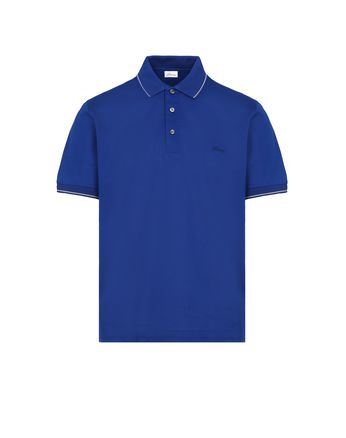 Blue Piquet Polo Shirt