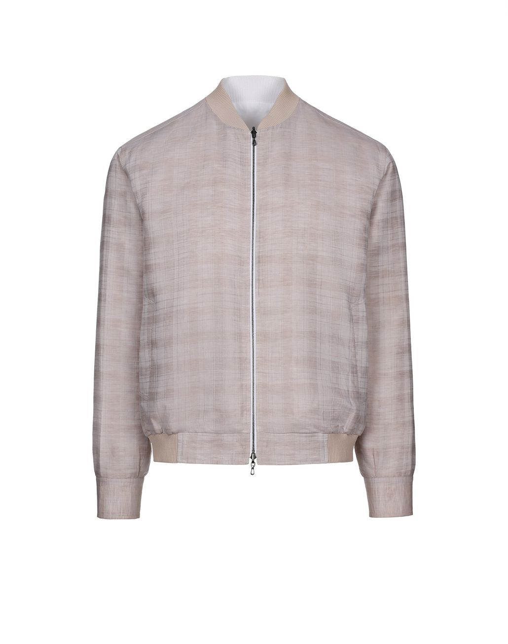 BRIONI Beige and White Reversible Blouson Shirt   Outerwear [*** pickupInStoreShippingNotGuaranteed_info ***] f