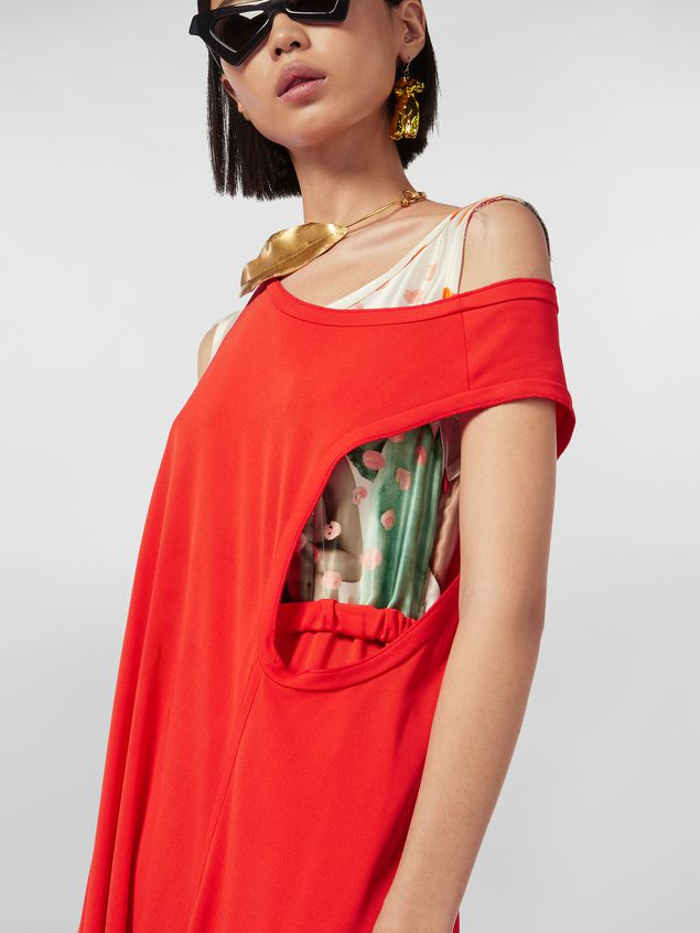 Marni Dress in crepe jersey with printed under top Woman - 4