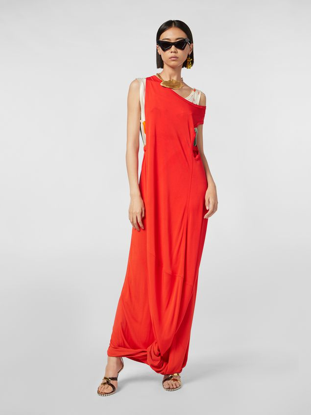 Marni Dress in crepe jersey with printed under top Woman - 1