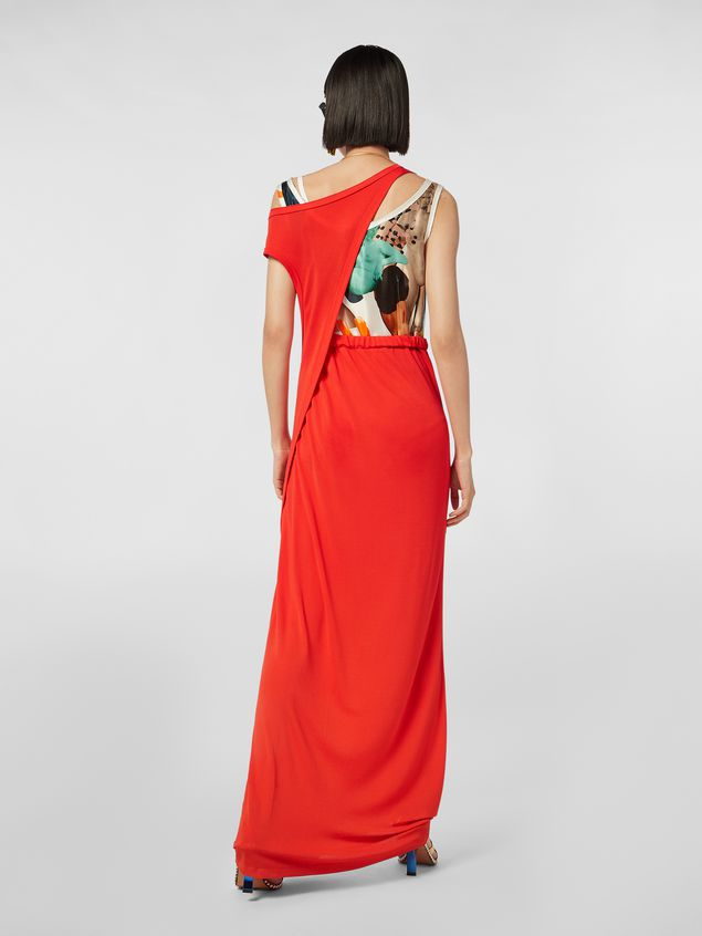 Marni Dress in crepe jersey with printed under top Woman - 3