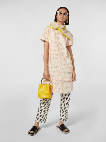 Marni Short dress in cotton with Cerere print Woman