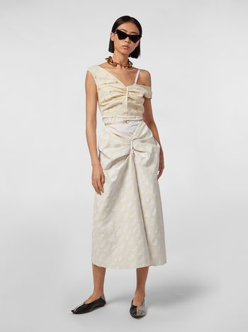 Marni Short dress in cotton Gea print Woman
