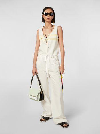 Marni Drawstring pants in washed compact cotton Woman