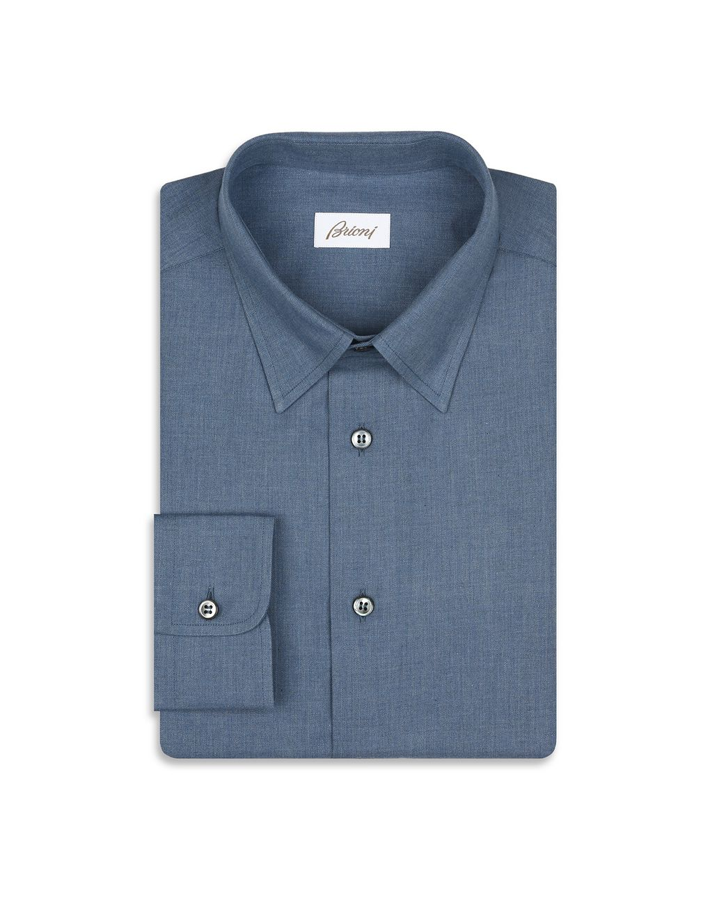 BRIONI Denim Blue Shirt Leisure shirt Man f